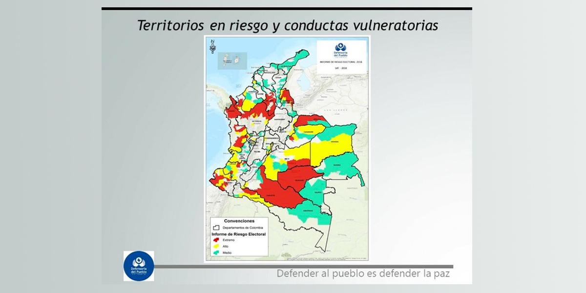 Defensoría del Pueblo presentó Alerta Temprana de Riesgo Electoral 2018