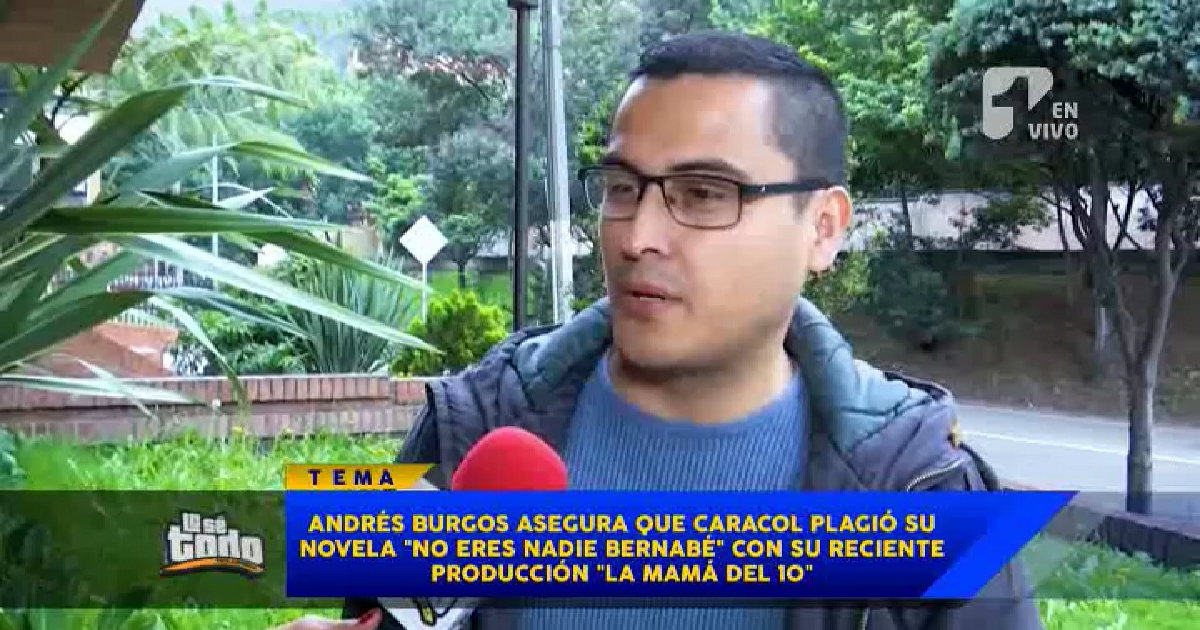 Escritor Andrés Burgos acusa de plagio a creadores de 'La mamá del 10'