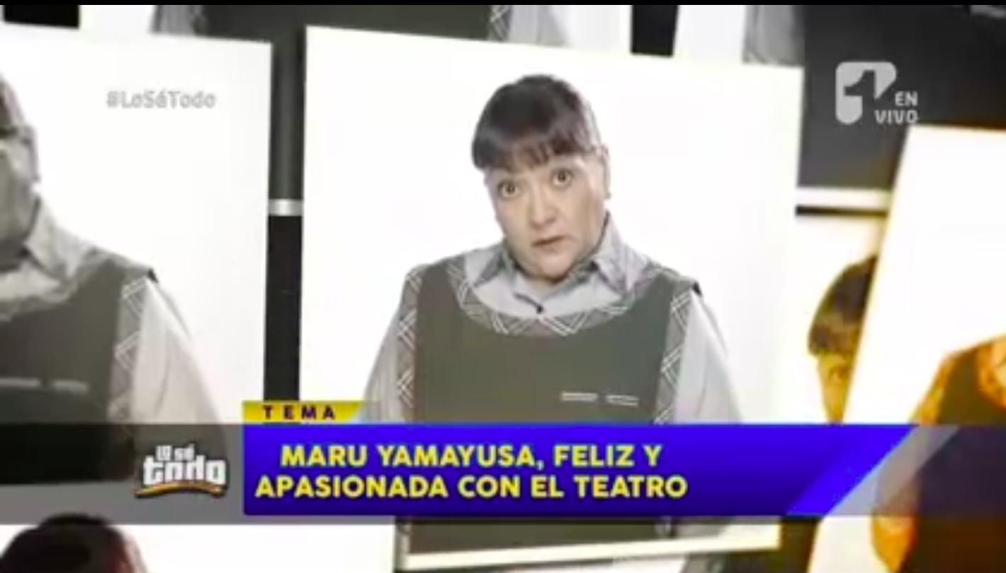 Luego de una cirugía, reapareció la actriz Maru Yamayusa