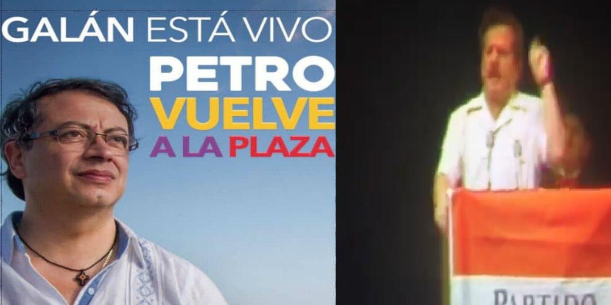"""""""Galán está vivo"""", la comparación con Petro que enciende un debate en redes sociales"""