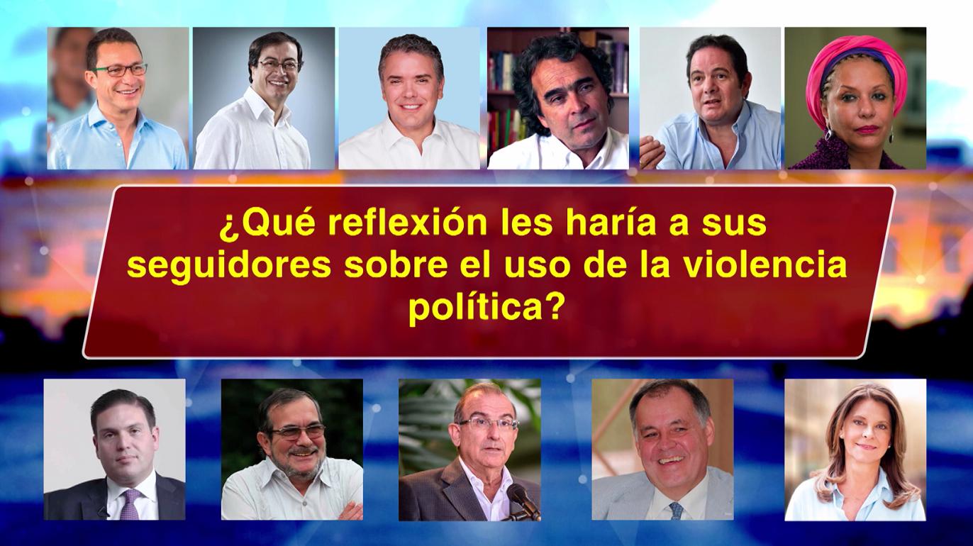 Pregunta candidatos violencia