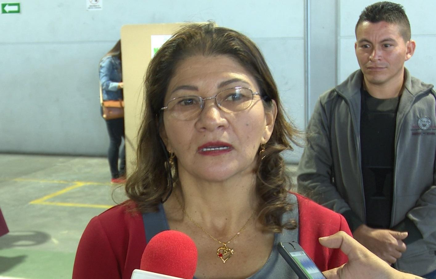 Por primera vez, votó la compañera sentimental de Manuel Marulanda