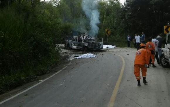 Ataque en Caldono, Cauca, deja dos policías muertos y otro más herido