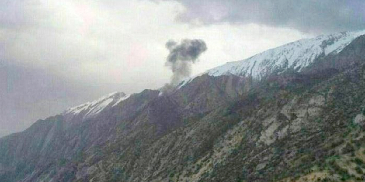 Se estrella avión privado turco con 11 personas a bordo en Irán