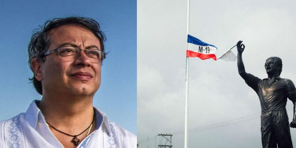 Bandera del M19 que se izó en evento de Petro genera dura controversia