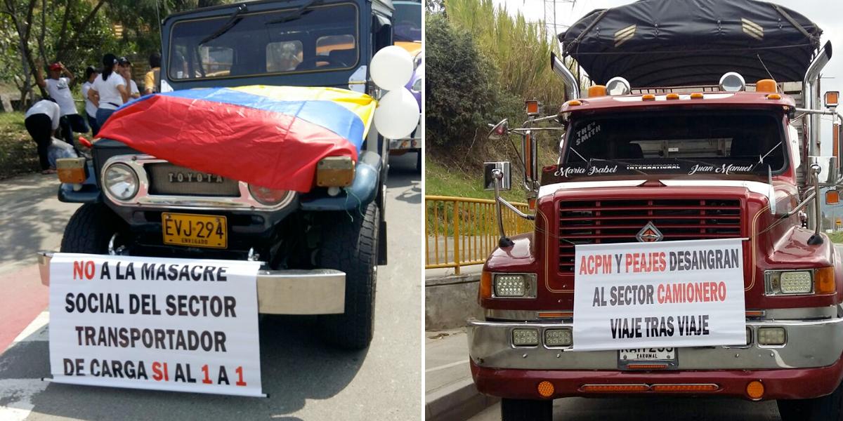 Cerca de 100 transportadores protestaron para pedir garantías laborales en Medellín