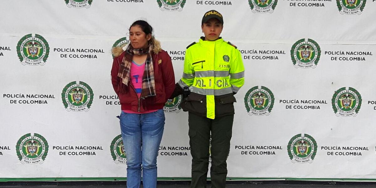 Capturan en Suba a mujer buscada con circular roja de Interpol