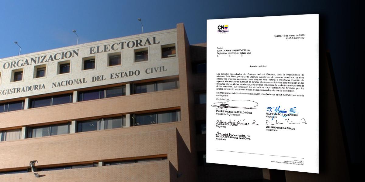 CNE pidió adoptar medidas para conjurar urgencia electoral