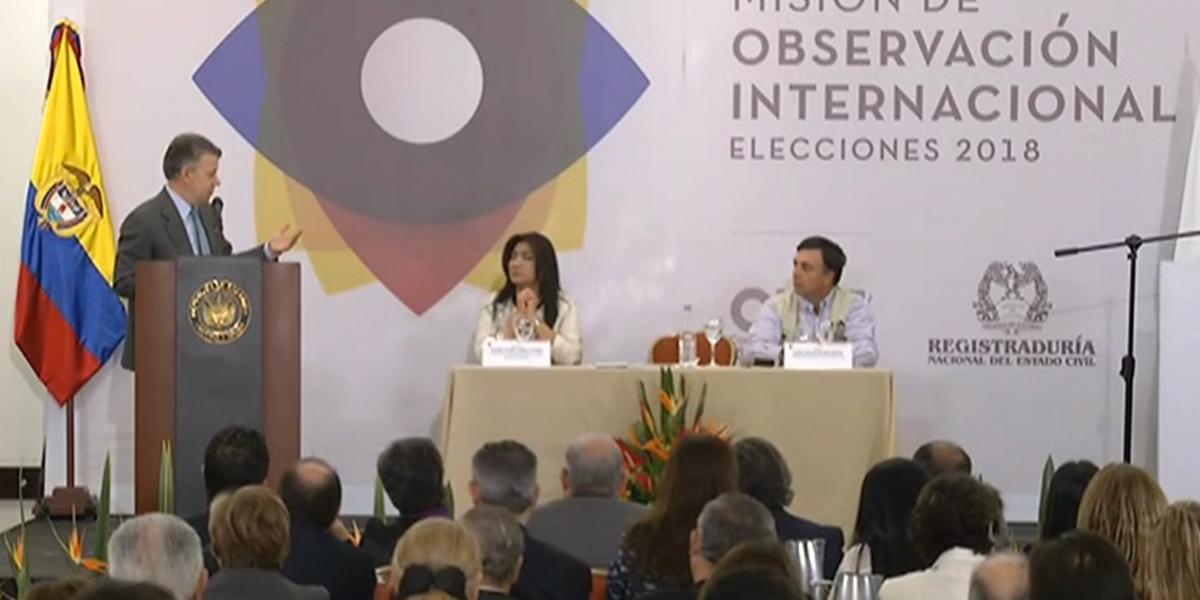 'Por primera vez vamos a tener unas elecciones en paz': Santos