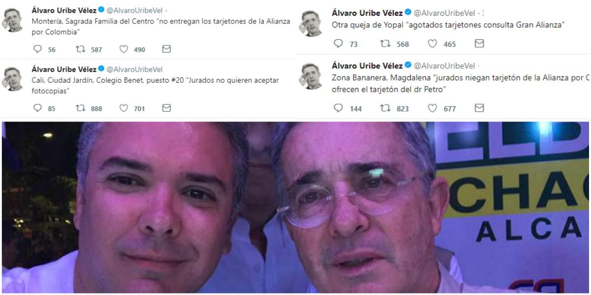 Las múltiples denuncias de Álvaro Uribe sobre supuesto fraude electoral