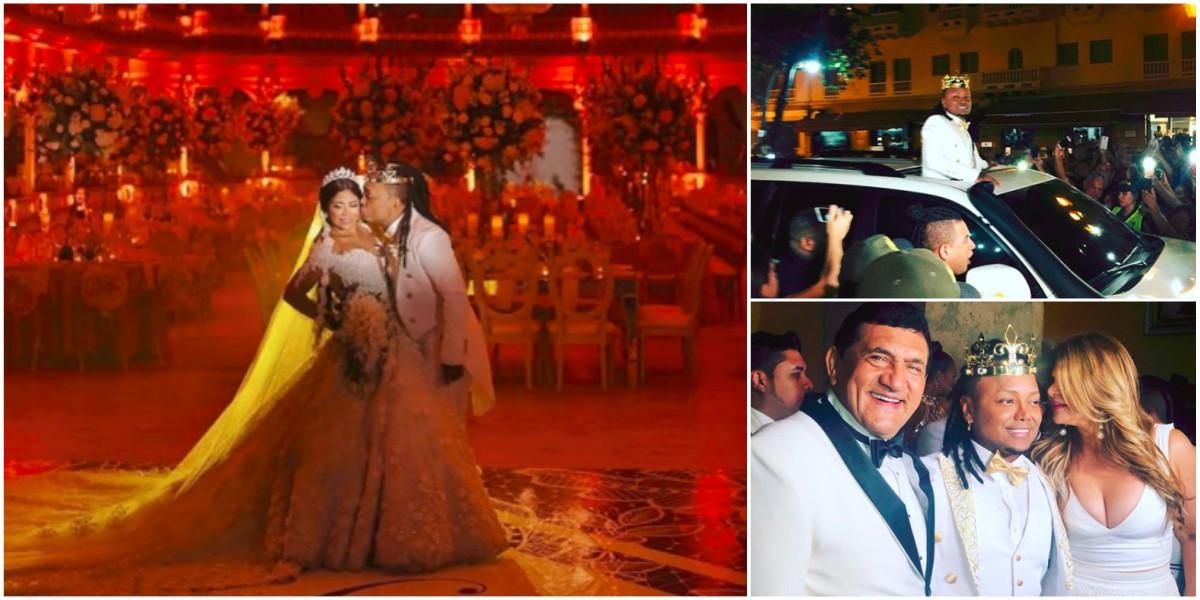 El extravagante matrimonio de Mr Black y Yuranis que da de qué hablar