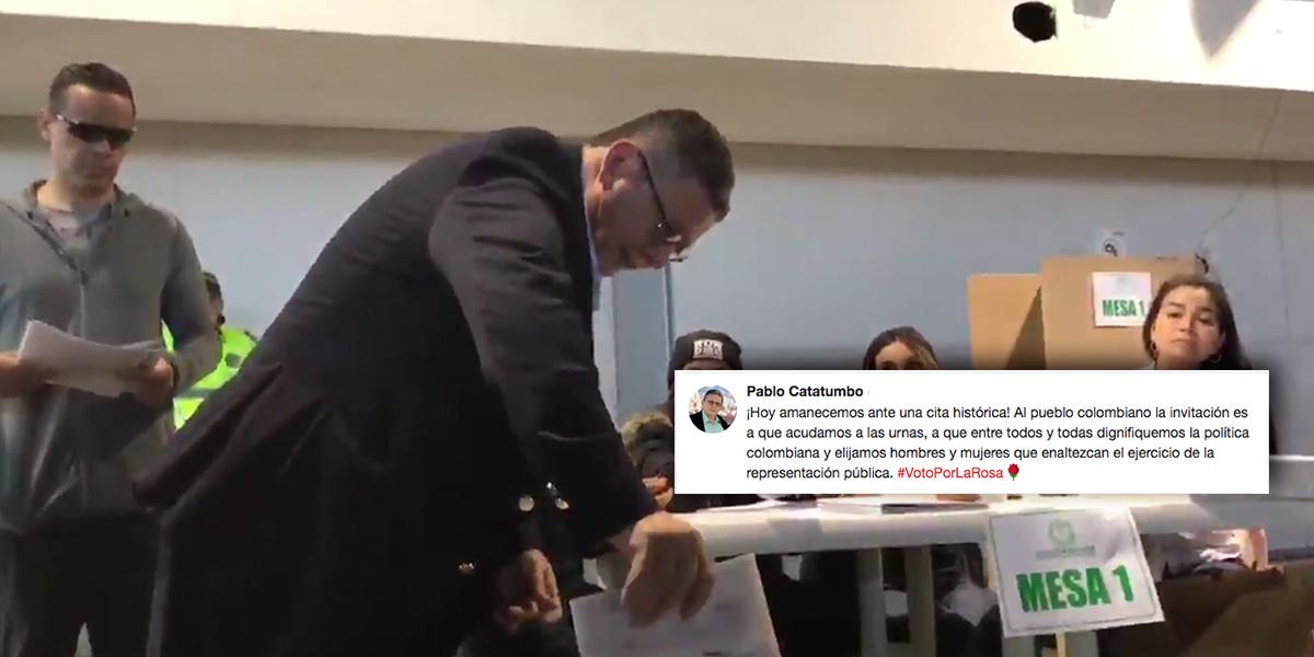 En sus 64 años de vida, es la primera vez que Pablo Catatumbo ejerce derecho al voto