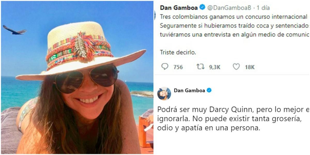 «Informe y no llore» la respuesta de Darcy Quinn que causa indignación
