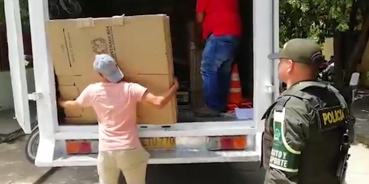 Urnas y tarjetones ya están en los 32 departamentos para ejecución de la jornada electoral