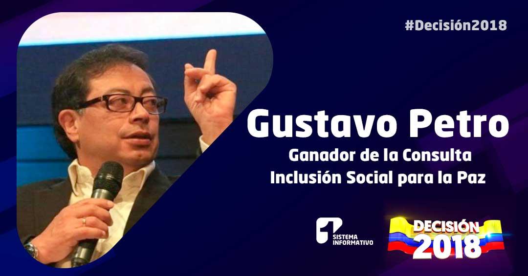 Gustavo Petro, gran ganador de consulta Inclusión Social para la Paz