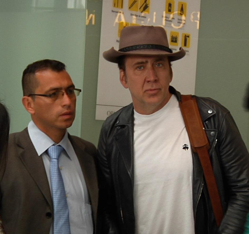 La visita del actor Nicolas Cage a Bogotá