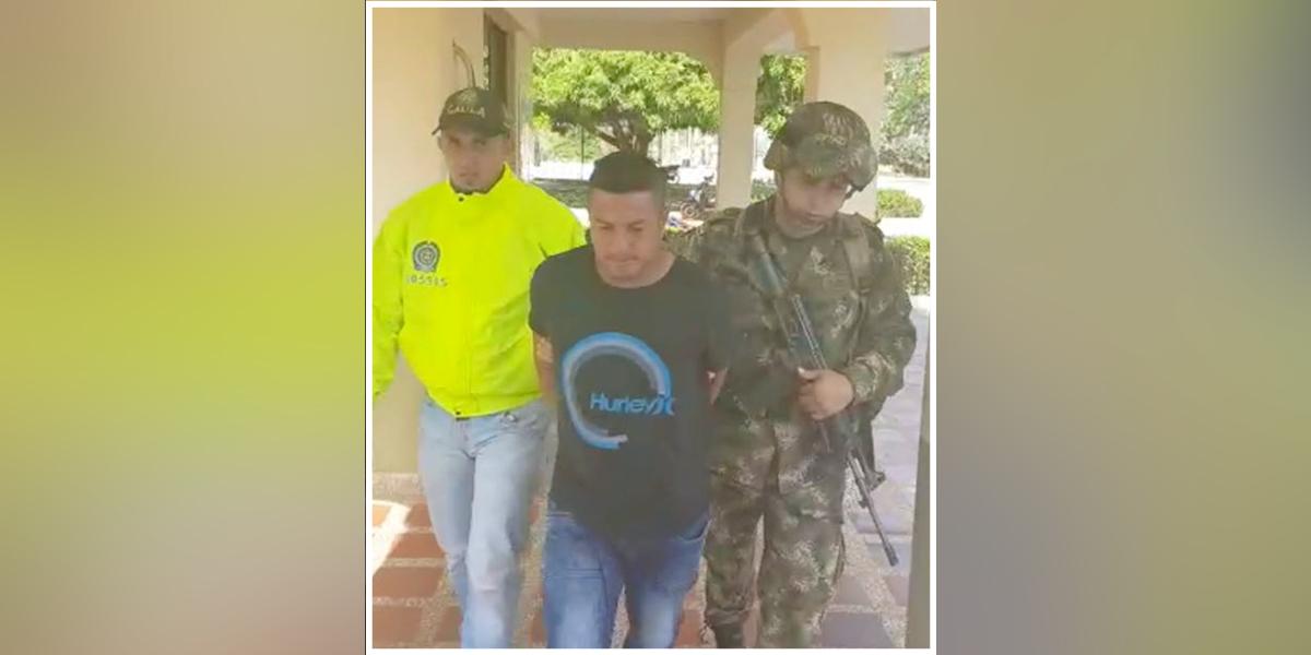 Capturan a alias 'Pereira' sicario en Cáceres, Antioquia