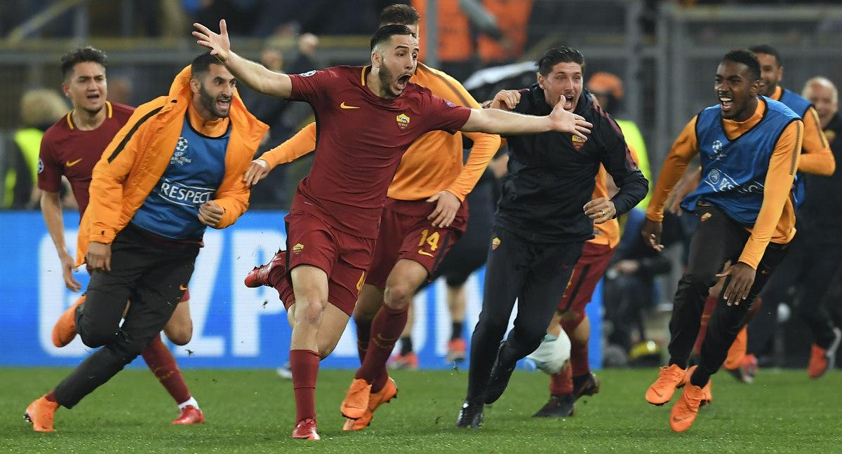 ¡Épico! Roma elimina al Barcelona de la Champions League