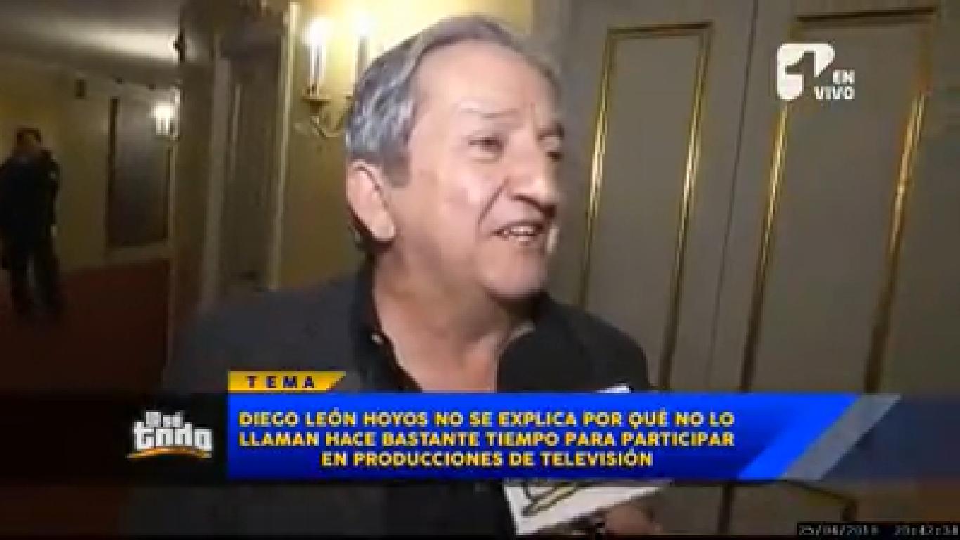 ¿Por qué Diego León Hoyos no ha vuelto a actuar en la televisión?