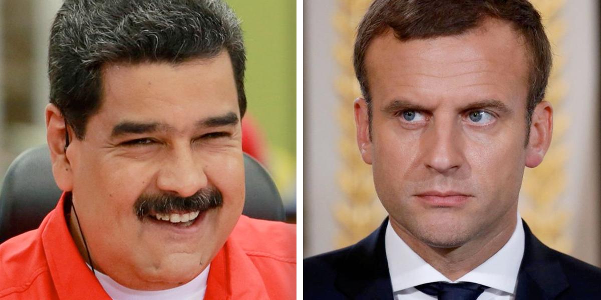 Macron es 'pelele' de Trump y 'sicario' de la oligarquía francesa: Nicolás Maduro