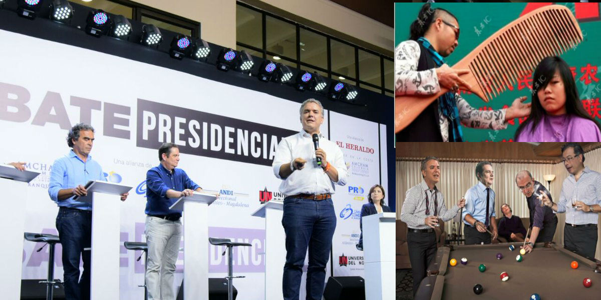 """""""La peinada de Duque"""" y otros memes que dejó el debate de candidatos presidenciales en el Caribe"""