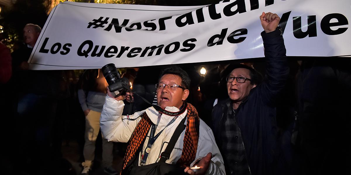 periodistas secuestrados protestas ecuador
