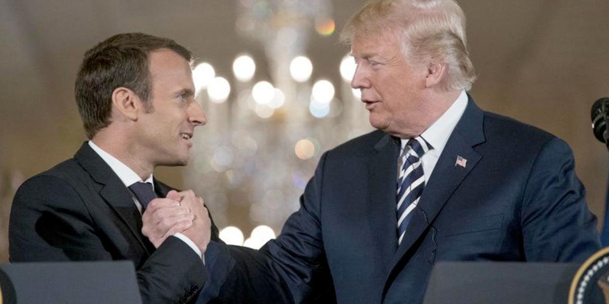 Macron deja claros sus contrastes con Trump
