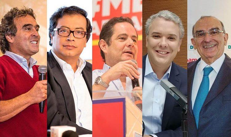 candidatos a la presidencia de Colombia ingresos y gastos consejo nacional electoral