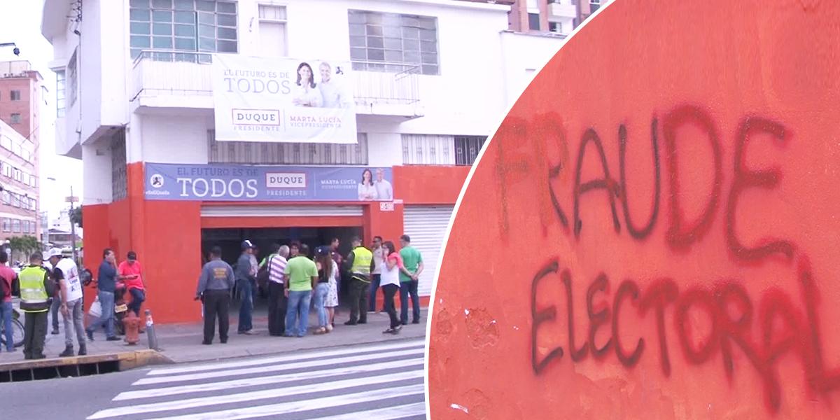 Acto vandálico a sede de Iván Duque en Bucaramanga