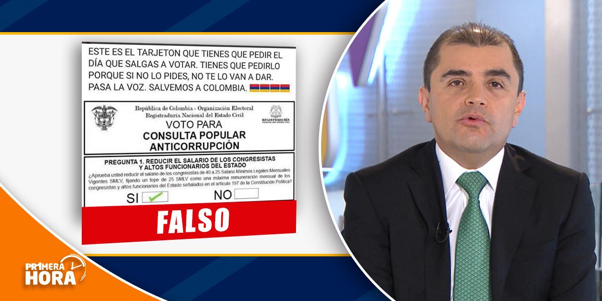 ¡Recuerde! La Consulta Anticorrupción no se realiza hoy en elecciones presidenciales