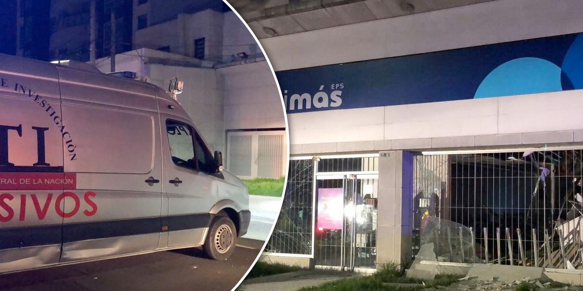 Investigan explosión de artefacto panfletario en sede de Medimás en Bogotá