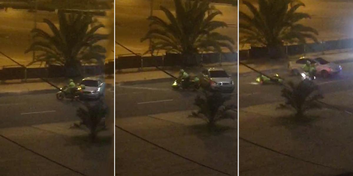 En video   Atropellan a policía al parecer en medio de piques ilegales en Bogotá