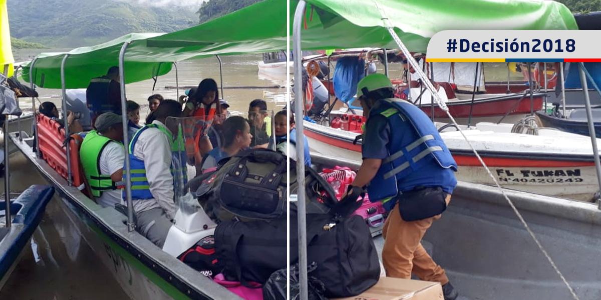 Por derrumbe suspenden caravanas desde y hacia Ituango, habitantes deben movilizase en lancha