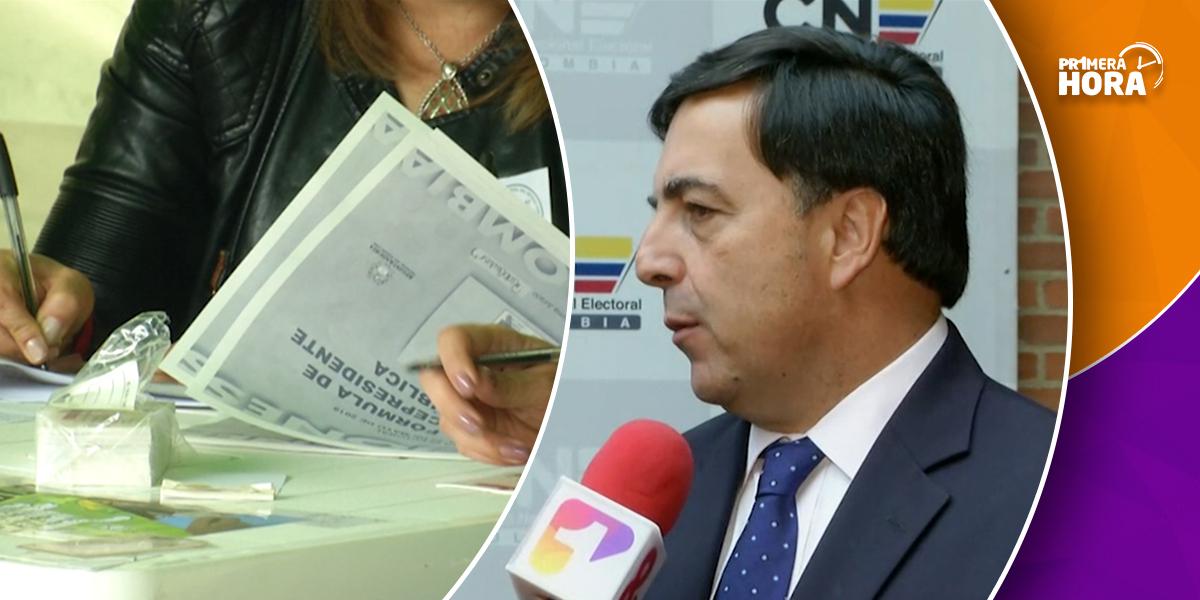 'No habrá inscripción de cédulas para segunda vuelta presidencial': registrador