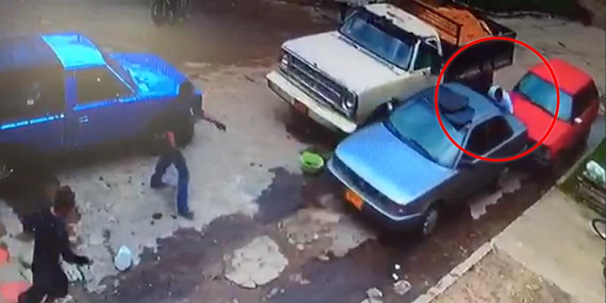 Un hombre atropella a dos personas y choca dos vehículos en medio de un hurto en Bogotá