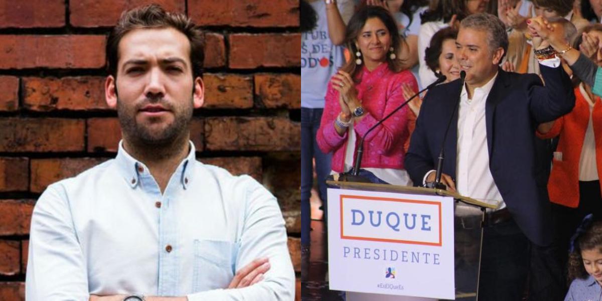 Hijo del Presidente Santos advierte a Iván Duque tras ganar las elecciones