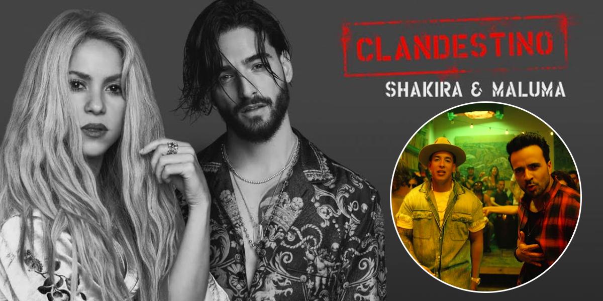 Shakira y Maluma con 'Clandestino' destronan a 'Despacito' en EE. UU.