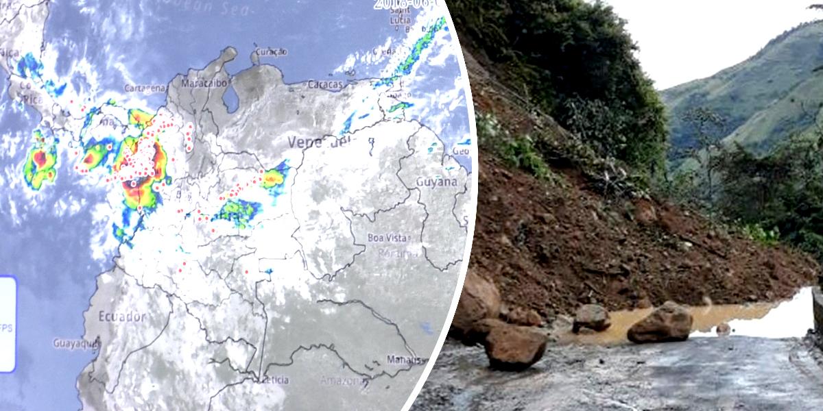 Hay 500 municipios con algún tipo de alerta por deslizamientos