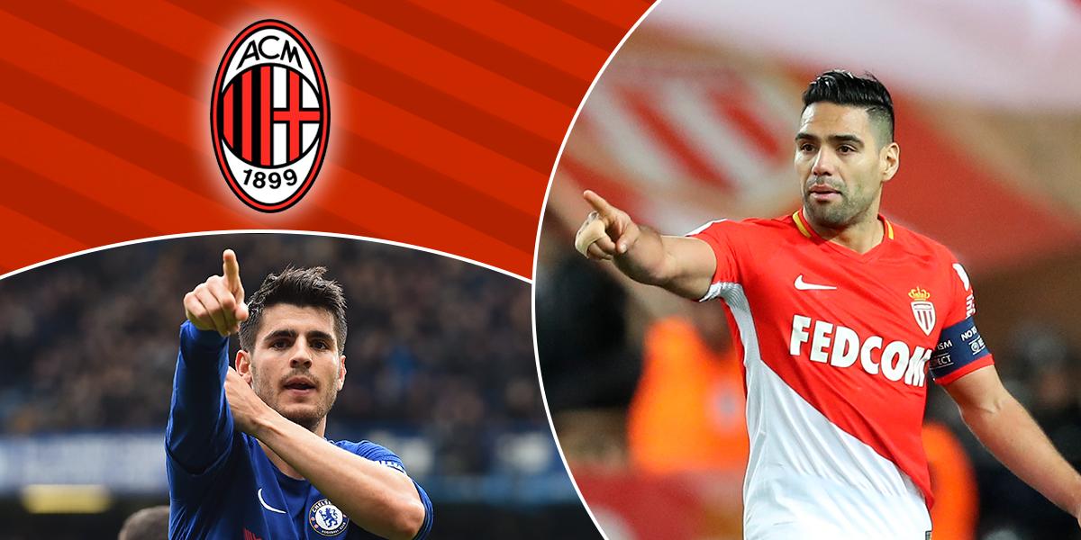Falcao y Morata, en la mira del Milan para la próxima temporada del fútbol europeo