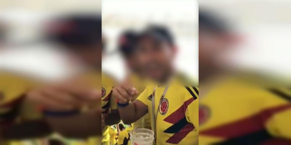 ¡Qué bellezas! Así encaletaron trago unos hinchas en el partido de Colombia vs Japón