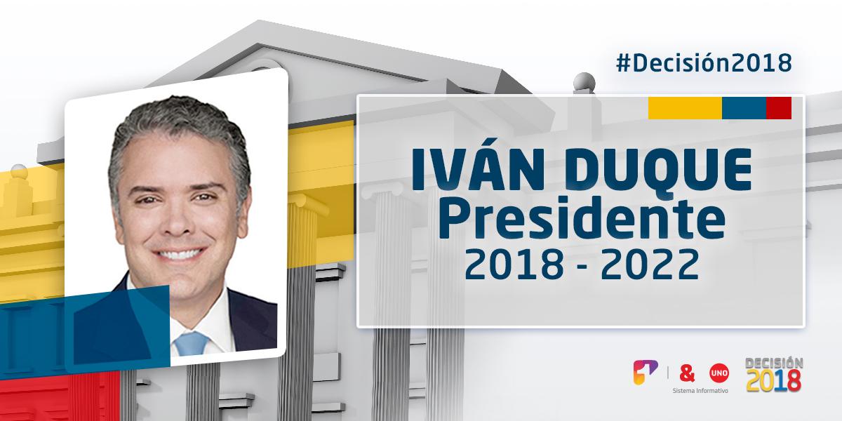 Iván Duque, nuevo presidente de Colombia 2018 – 2022