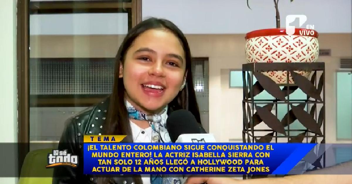 """La actriz colombiana de 12 años que ahora está """"de tú a tú"""" con Catherine Zeta-Jones"""