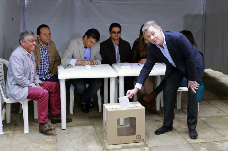 Así Juan Manuel Santos ejerció su derecho al voto