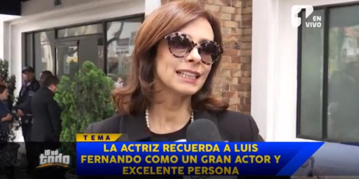 Patricia Ércole recordó anécdotas que compartió con Luis Fernando Montoya