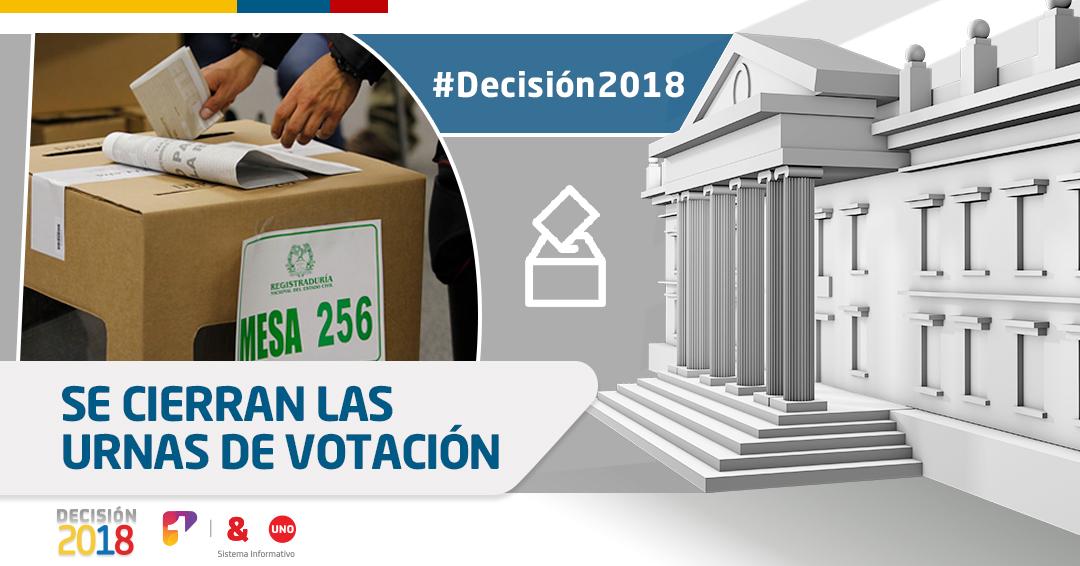 Elecciones presidenciales: se cierran las urnas en Colombia