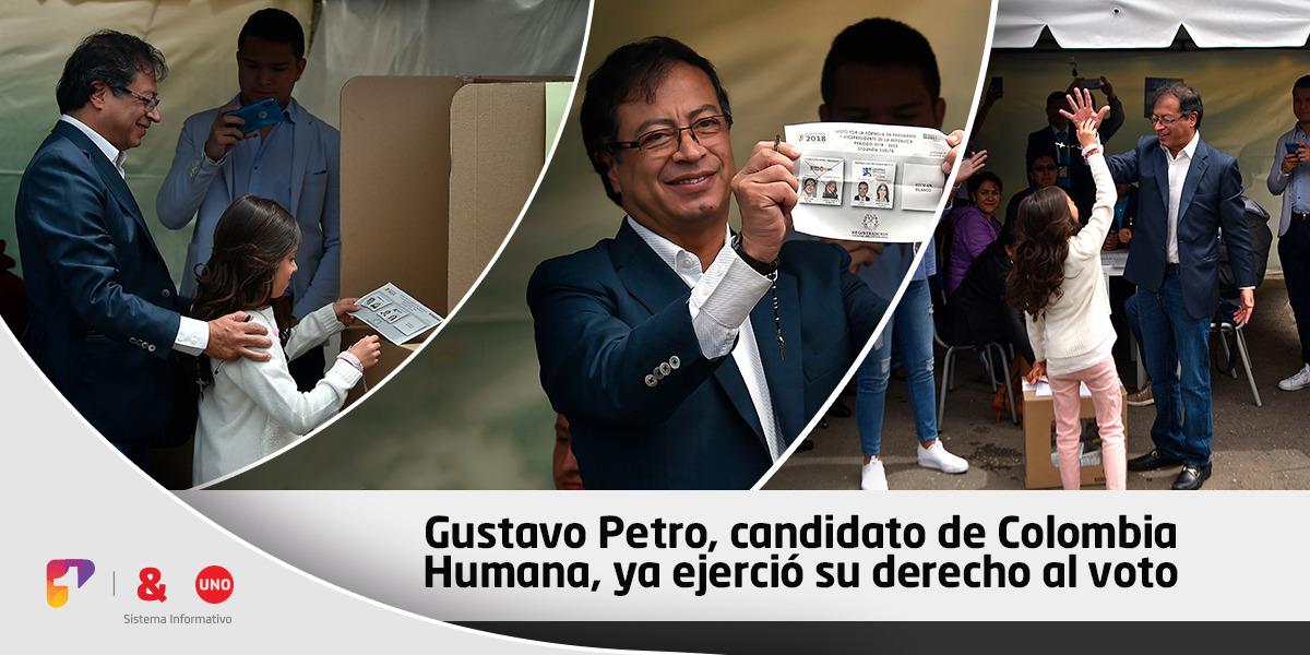 «Aquí está la gente diferente»: Gustavo Petro y su mensaje tras votar