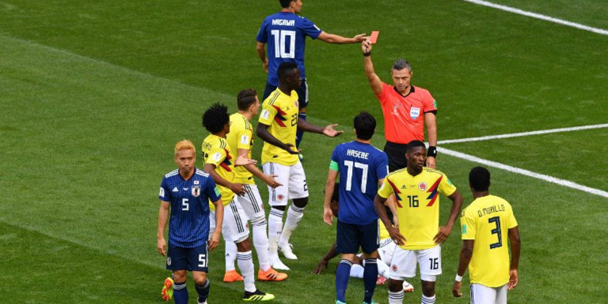 El colombiano Carlos Sánchez, primer expulsado del Mundial
