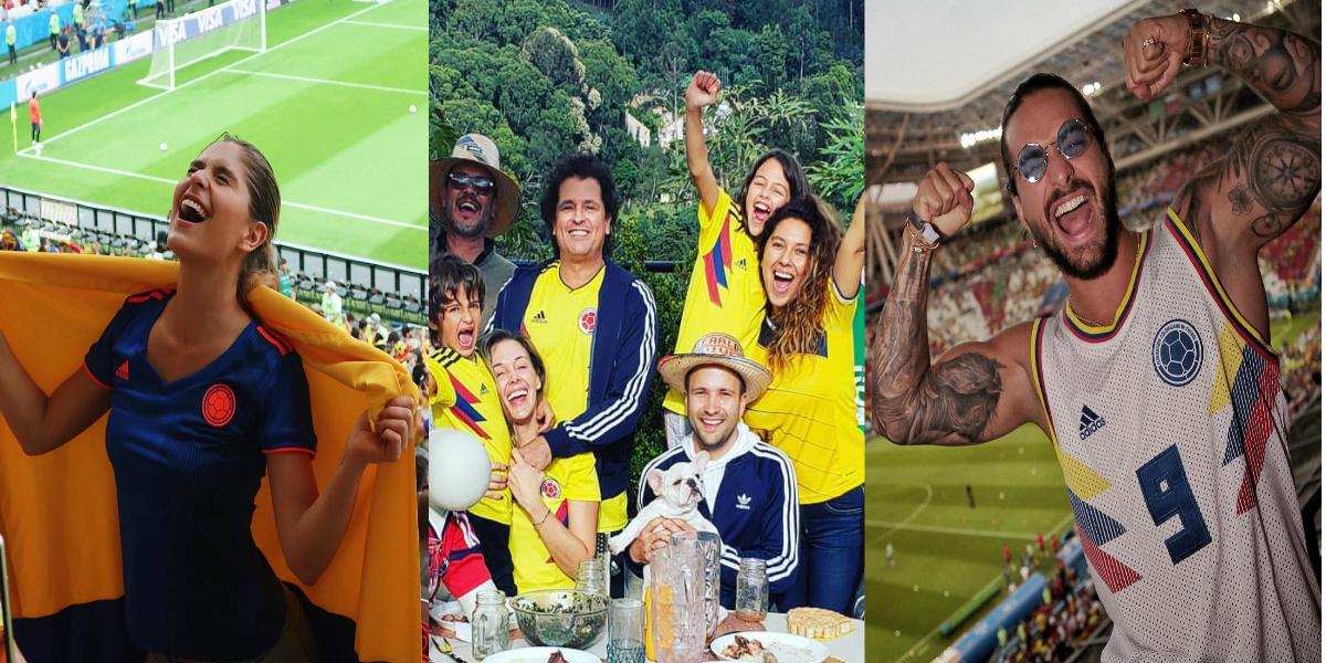Las fiestas y celebraciones de los famosos por la victoria de Colombia frente a Polonia