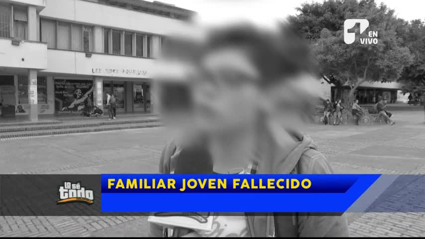 Por primera vez hablan familiares de joven universitario que murió por colarse en TransMilenio