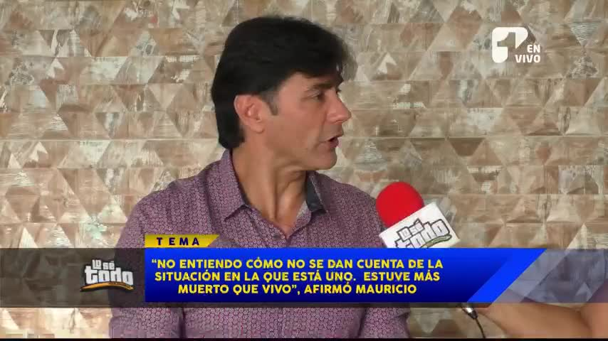 Mauro Urquijo habla de la difícil situación que vive actualmente